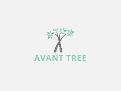 Avant Tree Logo natural wood leaf brand identity leafs wood old eco friendly