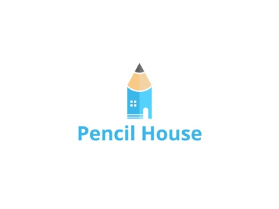 Pencil House Logo typography logo illustration branding design logodesign modern logo art logo house logo pencil pencil house brand identity branding graphicstockbd logo design graphic design