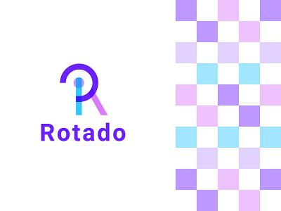 Rotado Modern Logo I Modern R Letter Logo minimal logo app logo logodesign brand identity illustration icon app rotado r logo r letter modern letter logo creative logo letter logo modern logo graphic design