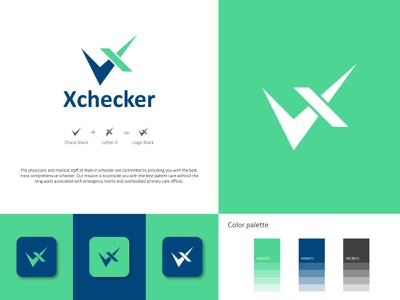 Xchecker Logo Design - Medical Logo medical tech check checker logo x logo logo branding brand identity branding design typography modern logo logodesign medical logo medical