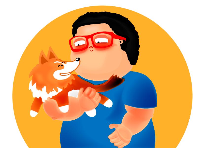 John dog friend illustration comic collie