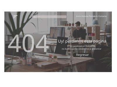 404 Page challege #DailyUI 008 website uidesign