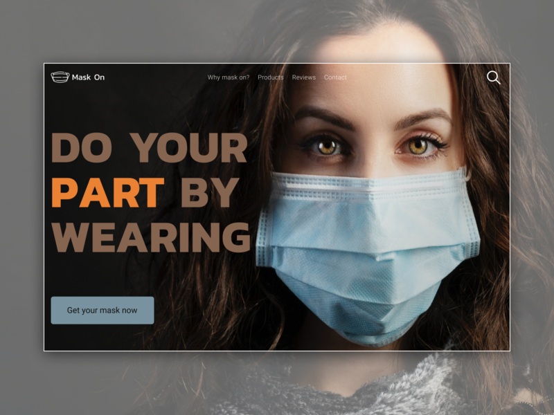 Mask on, Web page concept for mask selling wear mask mask ui webdesign layout design