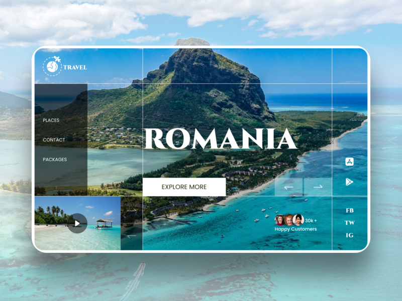 Travel agency web page concept travel design webdesign ui layout design