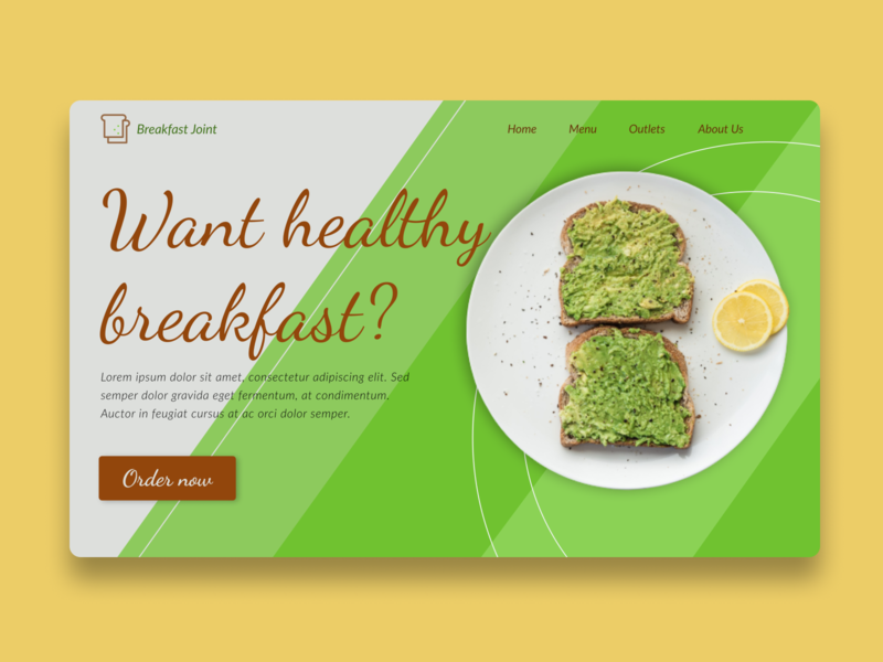 Breakfast Healthy Food food healthyfood healthy hotel sandwich breakfast ui webdesign layout design