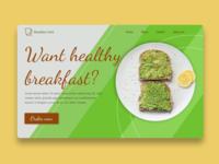 Breakfast Healthy Food food healthyfood healthy hotel sandwich breakfast ui webdesign layout design