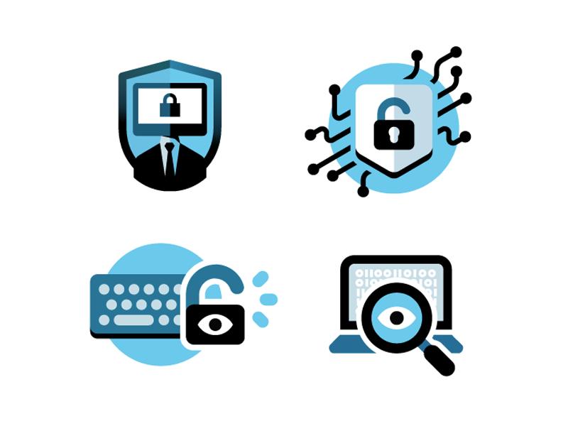 Internet security logos by Nicolás Chacana | Dribbble ...