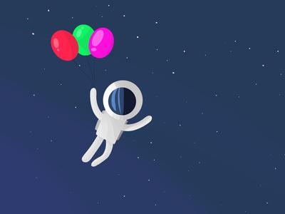 Astronaut space astronaut illustration art graphic procreate digital