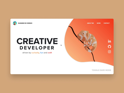 Chameleon portfolio experiment threejs blender3d animation portfolio digitalart 3d art webdesign website 3d chameleon