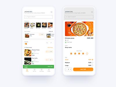 Food delivery app ui Design food app ui dailyui restaurent delivery food apps food app uidesign ui design ui