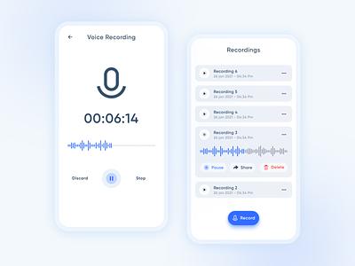 Voice Recorder || UI Design google design google voice call sound record recorder voice uxdesign ux music uxui uiux ui design uidesign design dailyuichallenge dailyui ui
