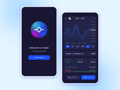 Trading app Visual Design stockmarket stock market stock bitcoin trading uxdesign ux uxui ui design uiux design dailyuichallenge uidesign dailyui ui