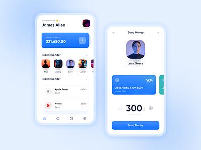 Online Transaction app Visual Design ui design uiux design dailyuichallenge uidesign dailyui ui transfer e-pay paypal pay google pay gpay paytm