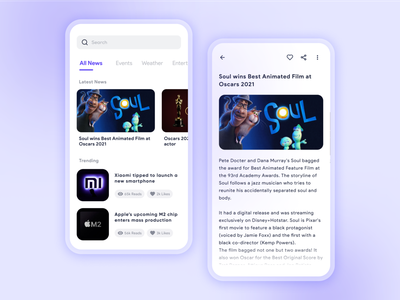 News app Visual Design uiux ui design design dailyuichallenge uidesign dailyui ui newsletter newsfeed newspaper ebook reading soul news