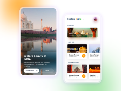 Trip Planner app Ui Desing uxui ui design uiux design dailyuichallenge uidesign dailyui ui map explore india travel
