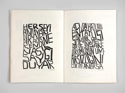 Seyyar Sesler 3 Fanzine underground font seyyar sesler magazine design type poet typography editorial design fanzin zines zine fanzine