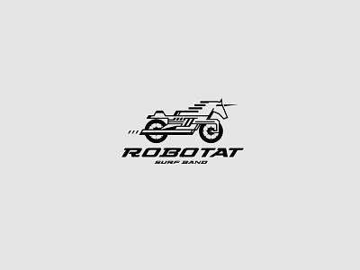 Robotat Surf Band Logo surf band music motorcycles logo motorcycle horse logo iron horse rocknroll rockabilly surf rock surf underground logo