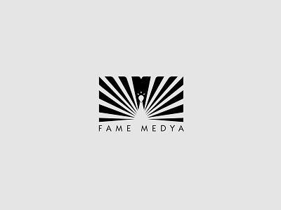 Fame Media / TV Logo peacock tv logo media logo media industry birds logos logo design logo amblem