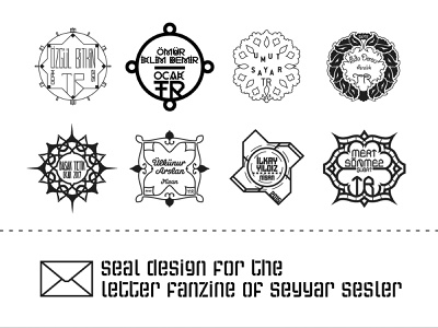 Postage Stamp / Seyyar Sesler 6 icon set letter amblem logo label symbol icon postage stamp