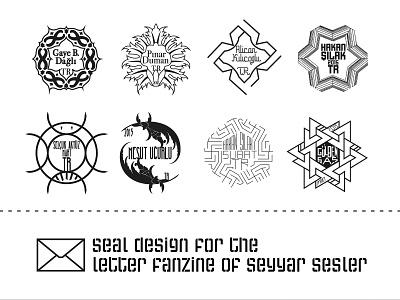 Postage Stamp / Seyyar Sesler 6 label letter amblem logo postage stamp branding illustration seyyar sesler zine fanzine underground typography istanbul
