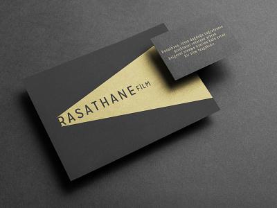 Rasathane Film branding design logotype ligh gold rasathane documentary logo branding