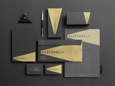 Rasathane Film brand identity documentary print gold light logotype logo branding