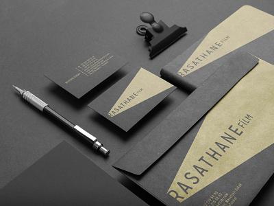 Rasathane Film notebook cover card envelope design documentary brand design branding logotype logo
