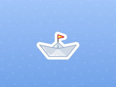 Paper Boat Icon logo simple icon clean minimal paper boat