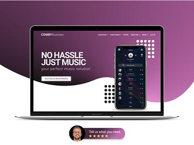 Music App Landingpage web design landingpage app music music app webdesign