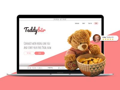 Teddybear Platform webflow teddybear teddy bear teddy webdesign landingpage