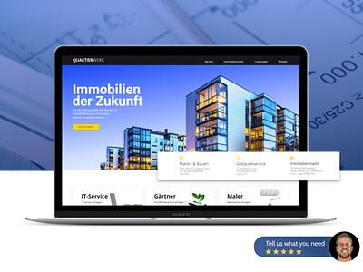 Real Estate Webdesign landingpage design webdesign plattform immobilien handwerker real estate realestate