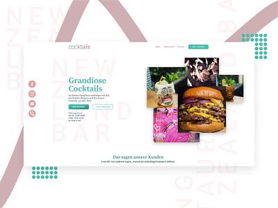 Burger & Cocktail Bar design landingpage webdesig frankfurt cocktail burger restaurant