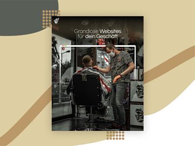 Barber Ad Post consulting digital agency design social media design social media webdesign instagram post ads friseur barber