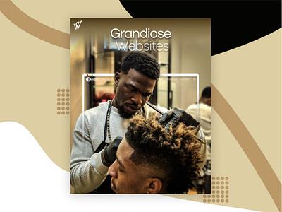 Social Media Ad ad design ads hair salon landingpage webdesign barber shop social media ad barber