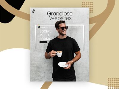 Influencer Ad Webdesign ads webdesign landingpage digital agency design webdesig influencer social media design social media