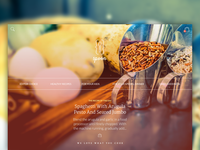 Header design, recipes website