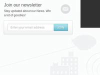 Newsletter subscription box