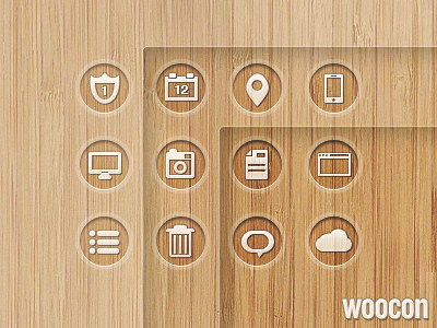 woocon [freebie] icon icons wood ui freebie psd web