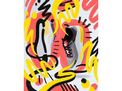 Shoes /// Photo collage procreate photography doodling illustration hand drawn freelance illustrator design