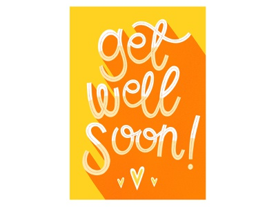 Get Well Soon greetings card design get well soon card card design greetings card illustrator hand drawn type handlettering procreate freelance illustrator hand drawn illustration design