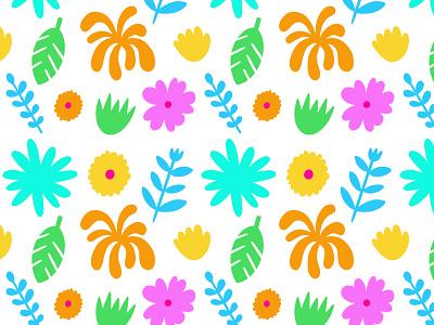 Pattern /// Flowers pattern design print design surface design repeating pattern art drawn by hand pattern procreate freelance illustrator illustration hand drawn design