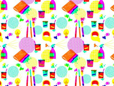 Patterns /// Screenprinting print screenprinting drawn by hand procreate rgb digital illustration surface design pattern design repeating pattern pattern hand drawn art design illustrator illustration