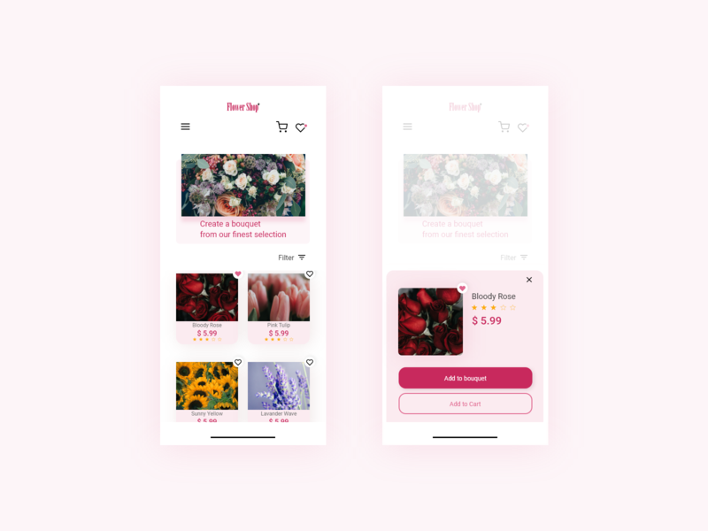 Flower Shop Ui design icon product design app ui web design typography
