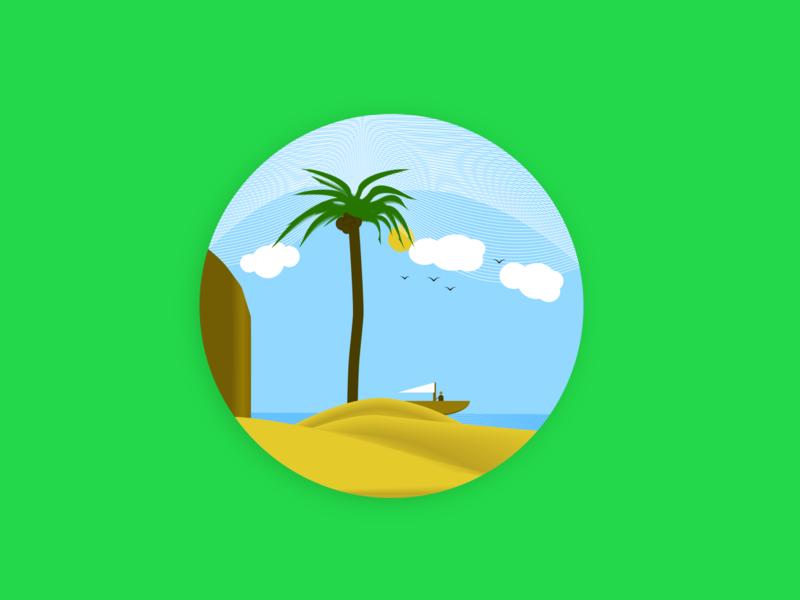 Summer flat illustrator vector web design art illustration