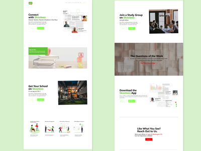 Skooleeo landing page redesign branding ux ui web illustration design