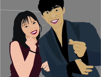 K-Drama... Tempted vectorart design illustration