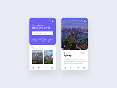 Travel App - UI Concept ✈️🌴 html ui kit kit template free ui8 freebie code mobile ui ui mobile app mobile app