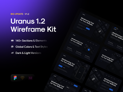 Uranus v1.2 - Wireframe Kit [BIG UPDATE] kit javascript css ui webdesign web wireframe html5 code html ui8 template