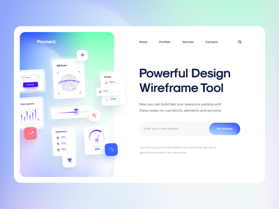 Payment 🤩 Based on Uranus - Wireframe Kit freebie css html uiux web design gradient 2021 glassmorphism glass ui ui8 code template