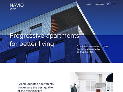 Navio Group app web website minimal flat ux branding ui design